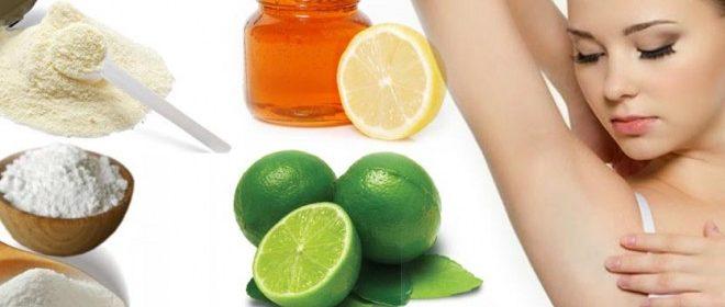 remedios caseros para blanquear las axilas