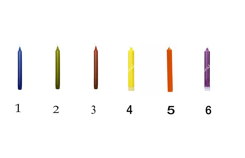 elige una de estas velas y te revelaré tus debilidades