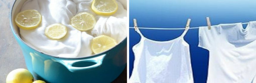 quitar amarillento de ropa sin cloro